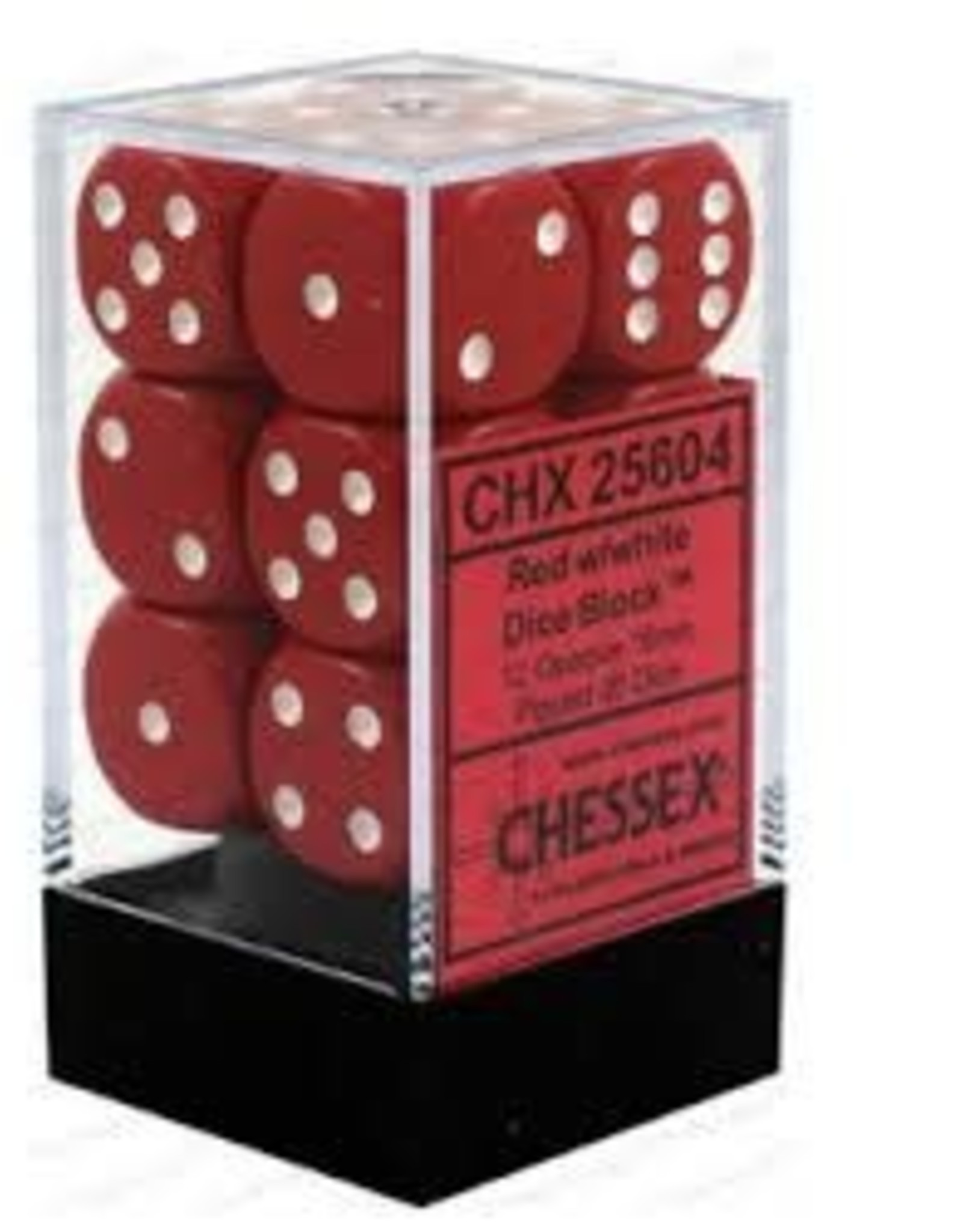 Chessex Dice - 12D6 Red & White