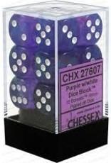 Chessex Dice - 12D6 Purple & White