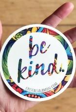 Crystal Salamon Coloured Sticker-Be Kind