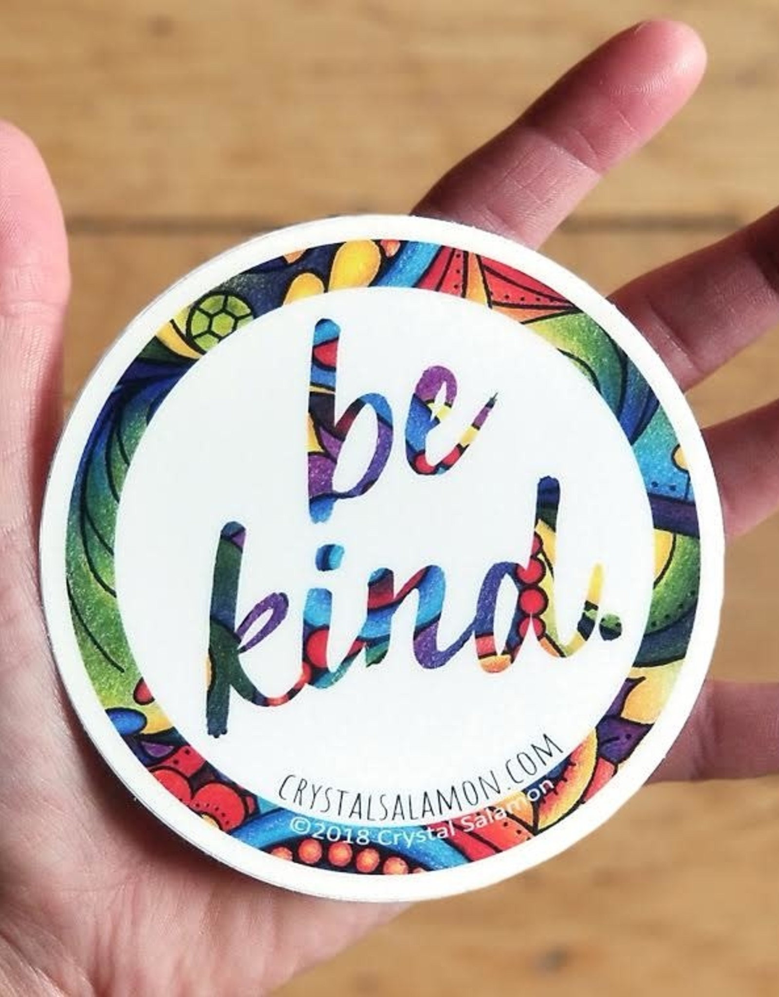 Crystal Salamon Colouring Sticker-Be Kind