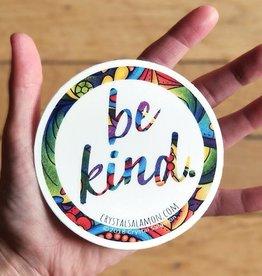 Crystal Salamon Colouring Sticker-Be Kind