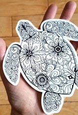 Crystal Salamon Colouring Sticker-Turtle