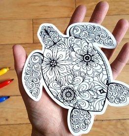Crystal Salamon Colouring Sticker-Turtle