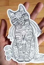 Crystal Salamon Colouring Sticker-Cat