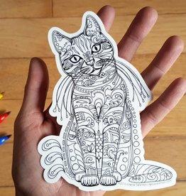 Crystal Salamon Colouring Sticker-Cat
