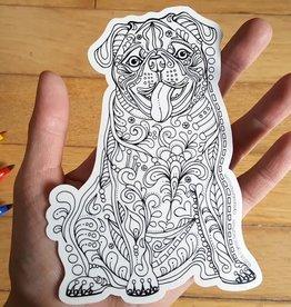 Crystal Salamon Colouring Sticker-Dog