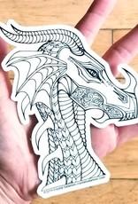 Crystal Salamon Colouring Sticker-Dragon
