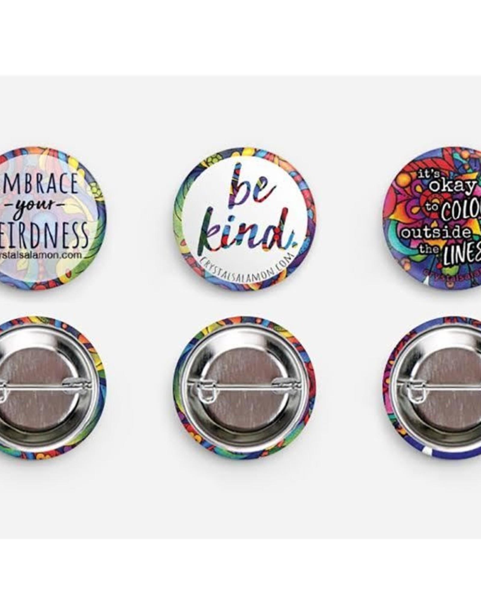 Crystal Salamon Button / Pin Sets