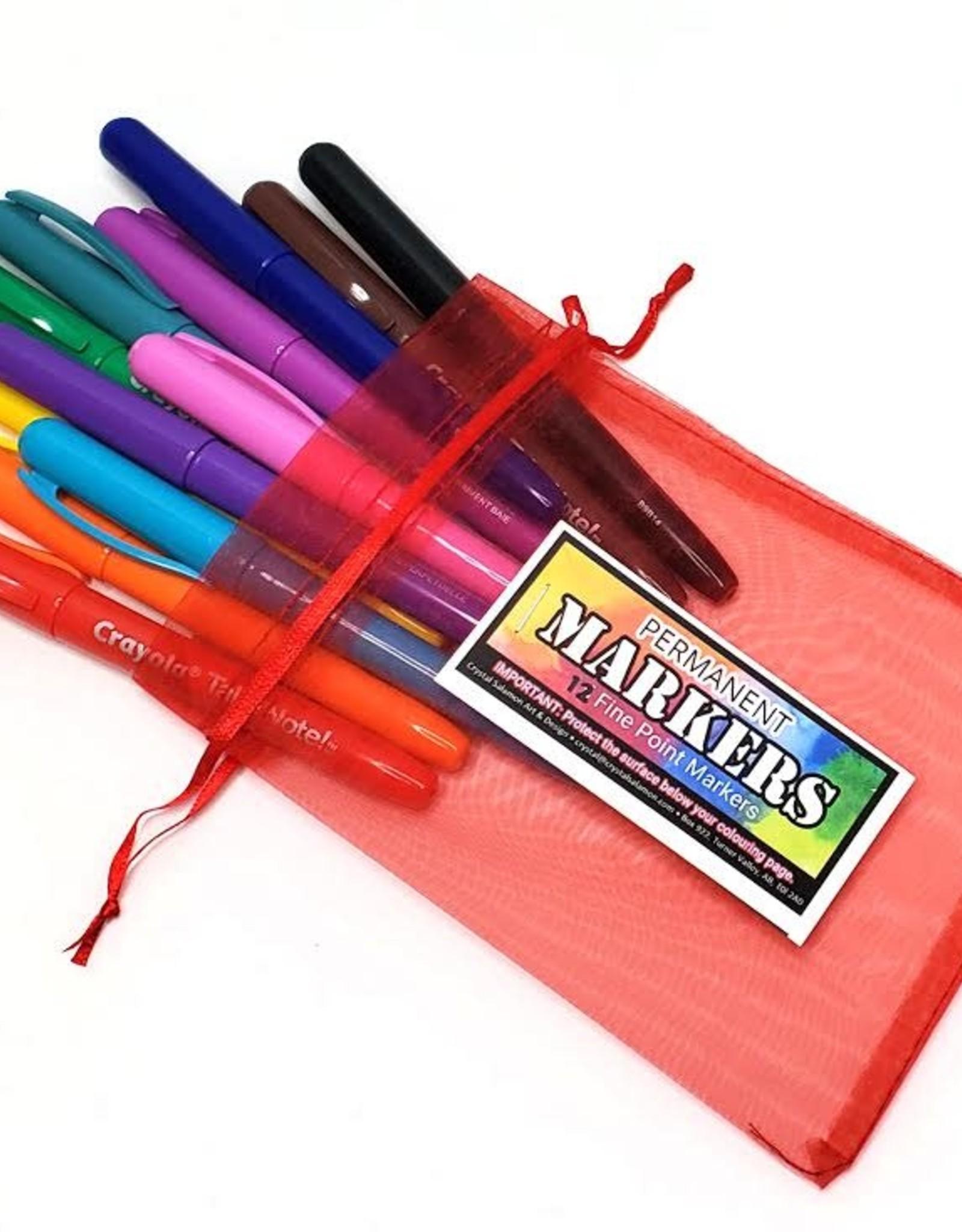 Crayola Marker Sets: 12 Crayola in  gift bag