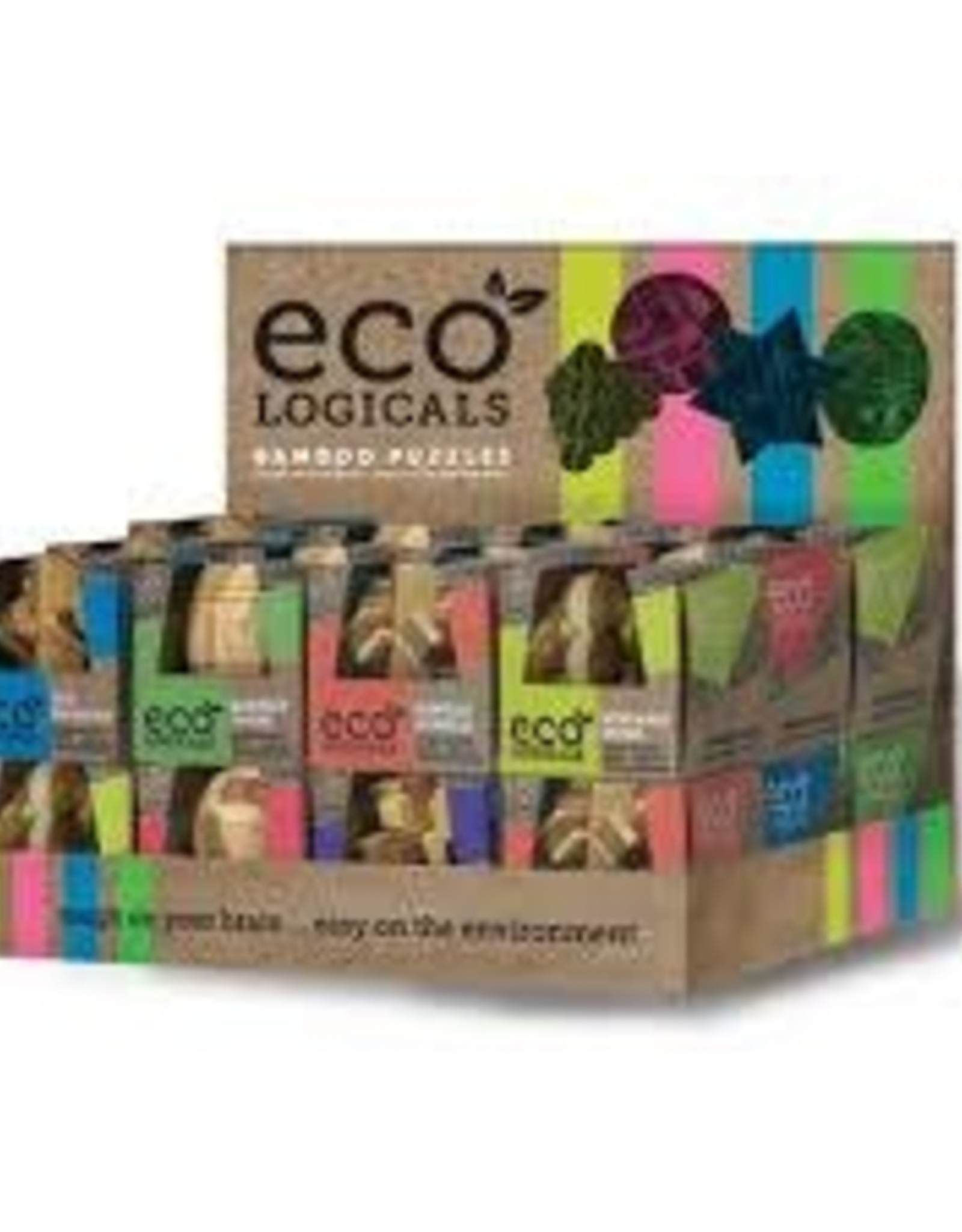 Project Genius Inc. Eco Logicals: 24pc Bamboo Puzzles