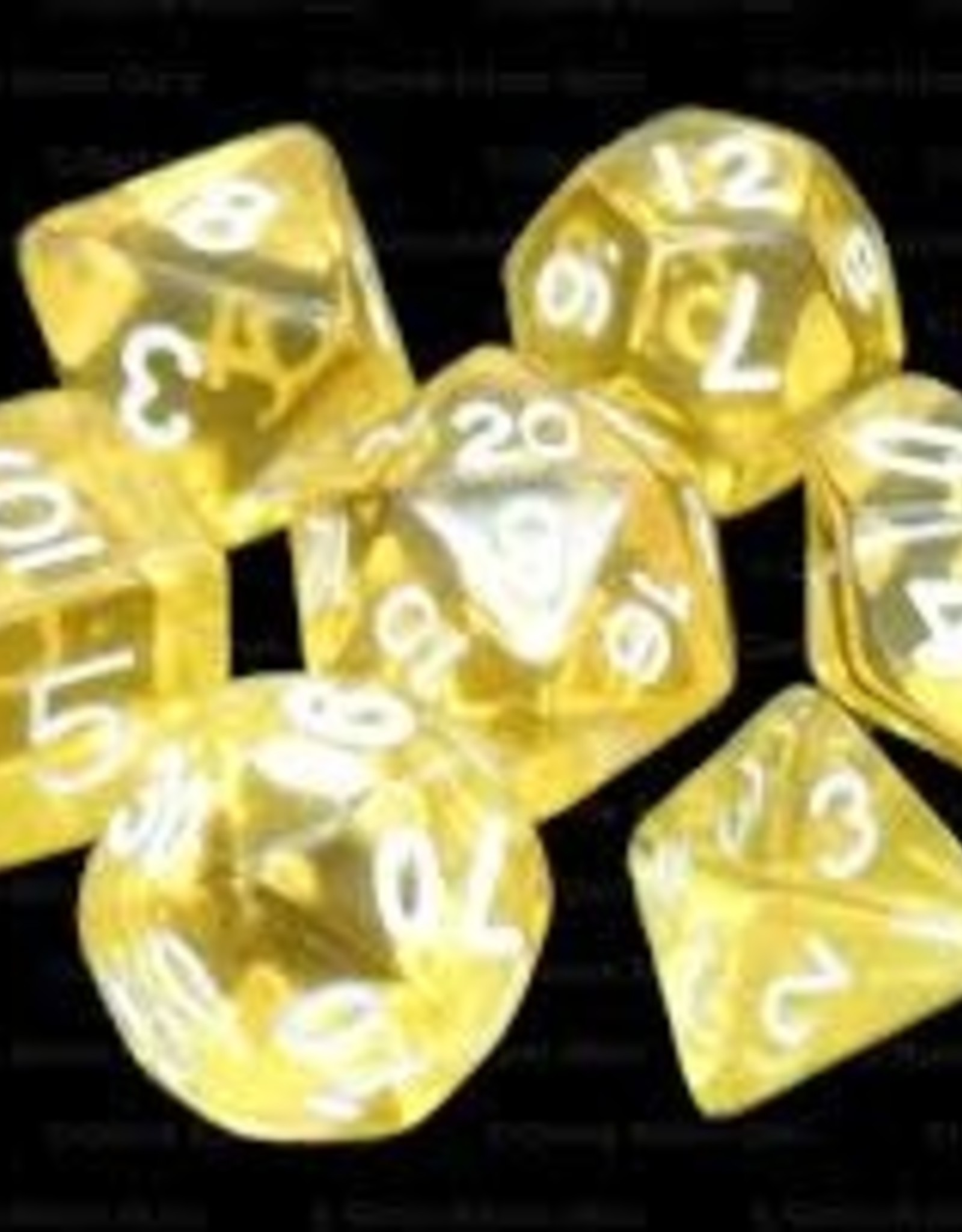 Chessex Dice - 7pc Yellow & White