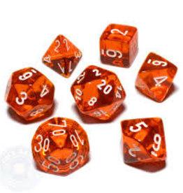 Chessex Dice - 7pc Orange & White