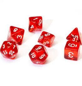 Chessex Dice - 7pc Red & White