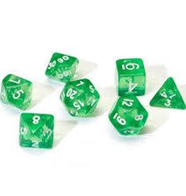 Chessex Dice - 7pc Green & White
