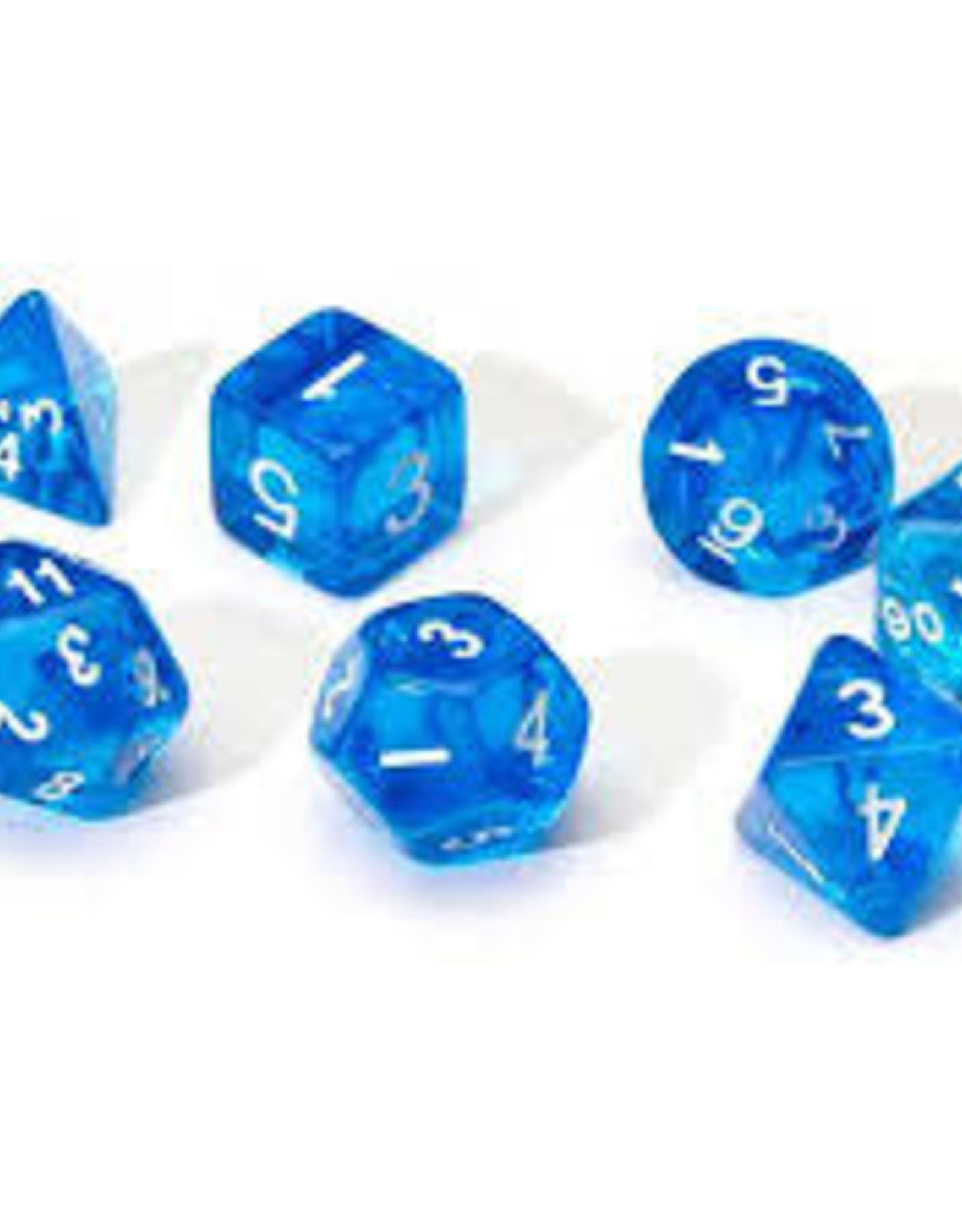 Chessex Dice - 7pc Blue & White