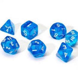 Chessex Dice - 7pc Blue & White