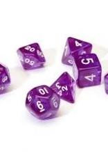 Chessex Dice - 7pc Purple & White