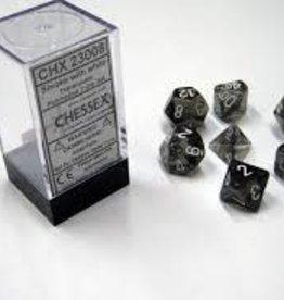 Chessex Dice - 7pc Smoke & White