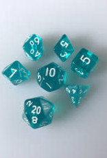 Chessex Dice - 7pc Teal & White
