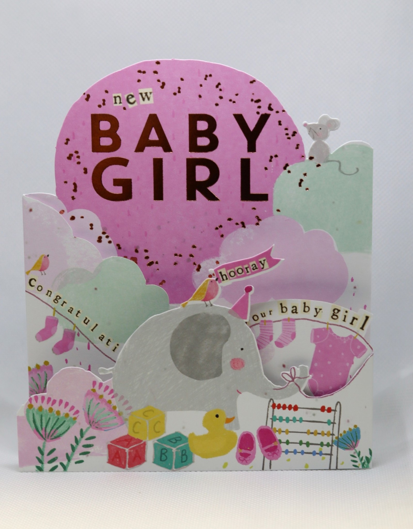 Paperlink Baby Card Girl, Congrats