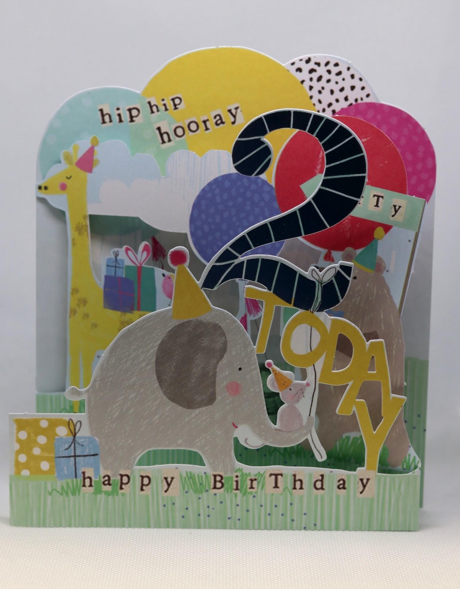 Paperlink Bday Card 02, Hip-hip Hooray