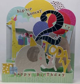 Paperlink Bday Card 02, Hip-hip Hooray