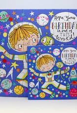 Rachel Ellen Designs Card Jigsaw Birthday, Spaceman - 7x7