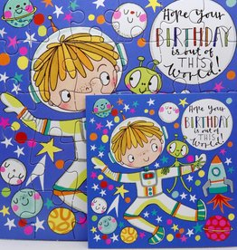 Rachel Ellen Designs Card Jigsaw Birthday, Spaceman - 7x7