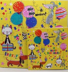 Rachel Ellen Designs Card Jigsaw HB, Hip Hip Hooray - 7x7