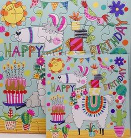 Rachel Ellen Designs Card Jigsaw HB, Llama - 7x7