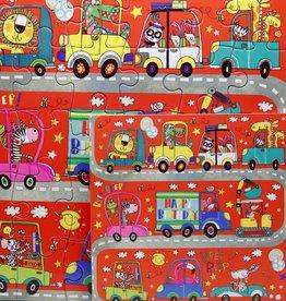 Rachel Ellen Designs Card Jigsaw HB, Vehicles - 7x7