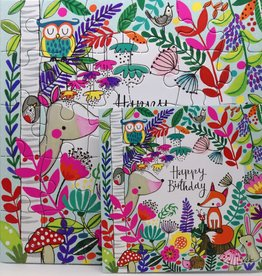 Rachel Ellen Designs Card Jigsaw HB, Fox & Friends - 7x7