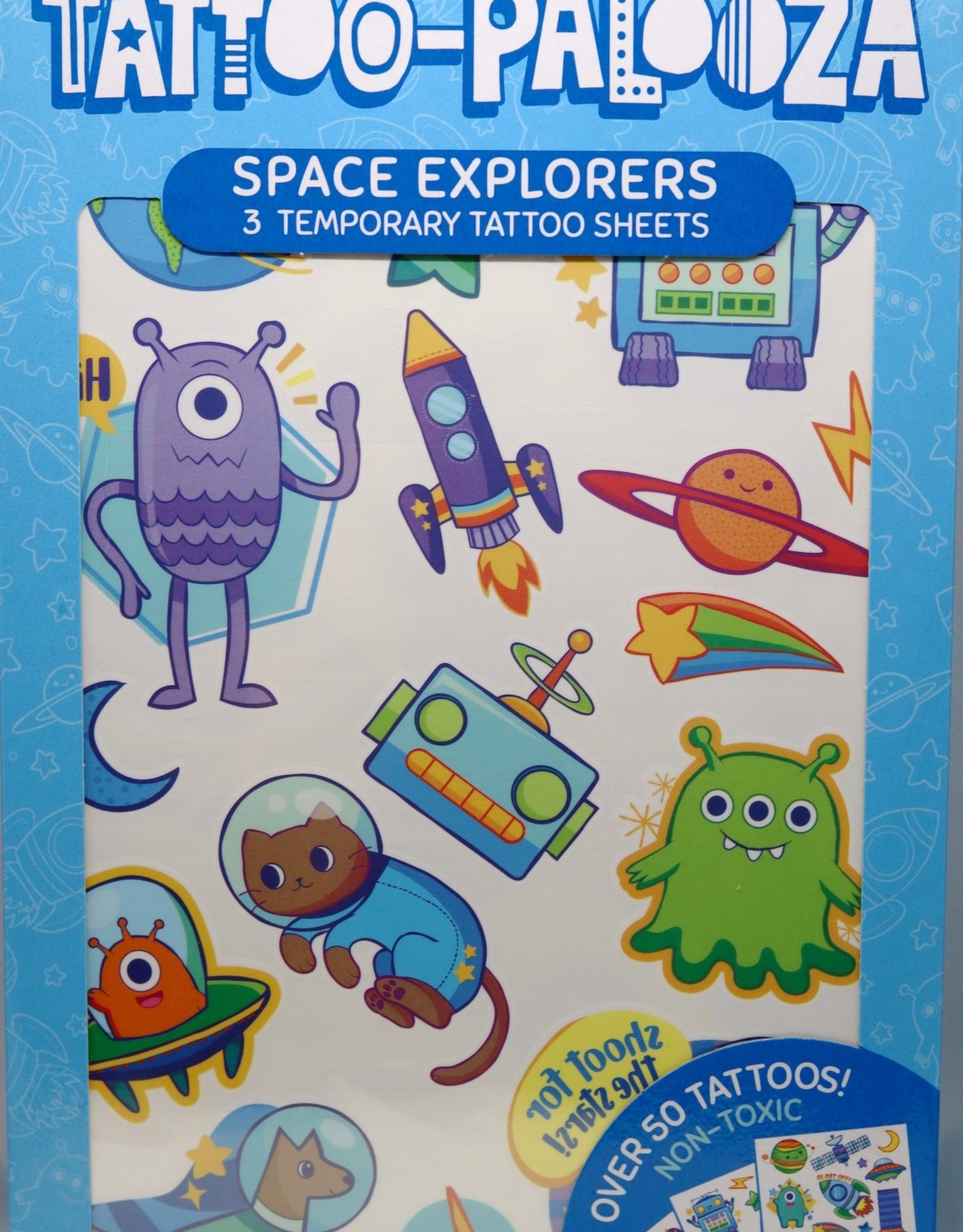 OOLY TATTOO PALOOZA TEMPORARY TATTOOS - SPACE EXPLORERS