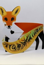 Stand Up Bday  Card Foxy, Fox - 6x6