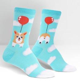 Sock It To Me WOMEN'S CREW: PUP, PUP AND AWAY