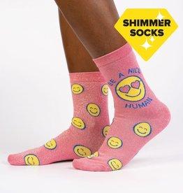 Sock It To Me WOMEN'S CREW: BE A NICE HUMAN