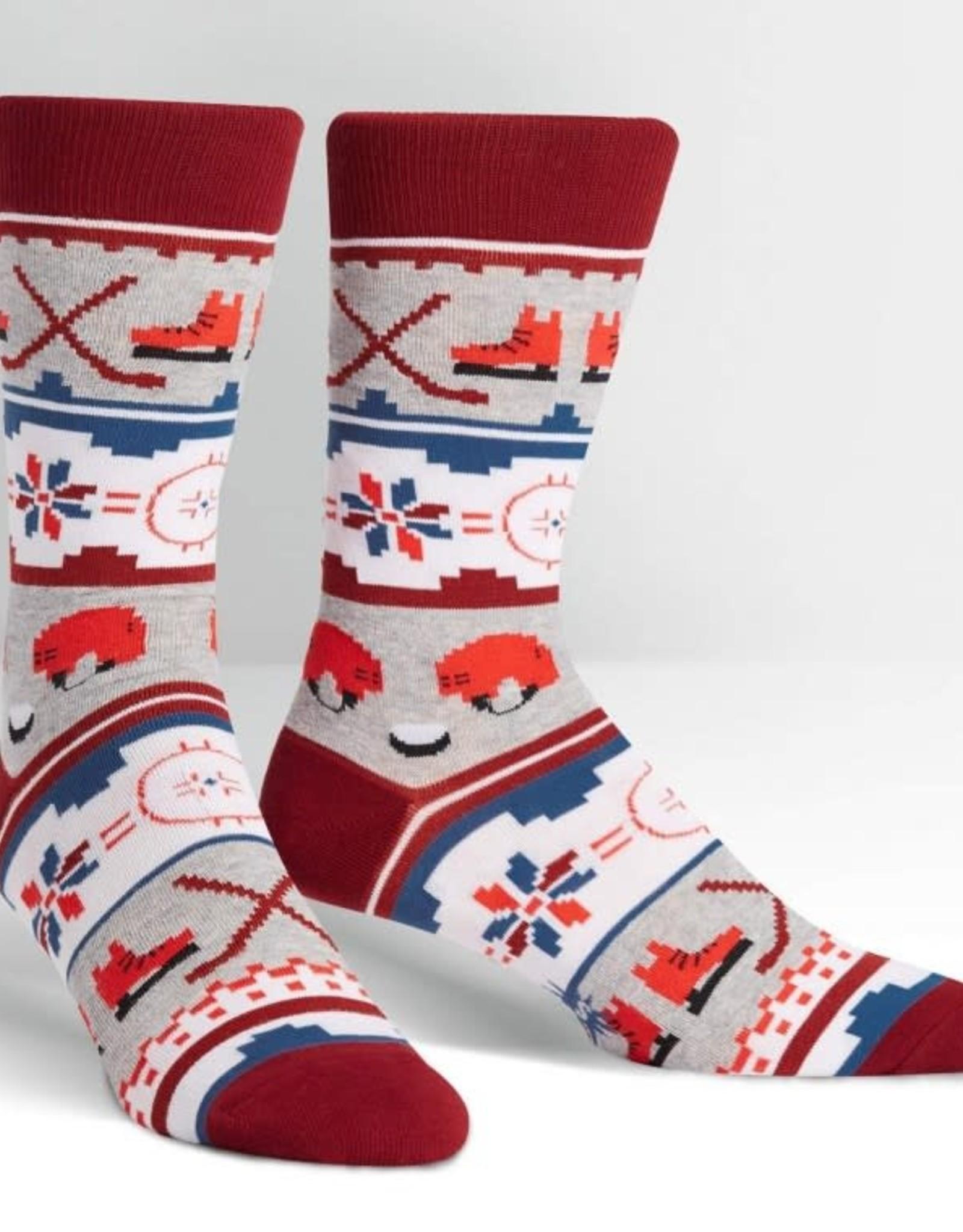 Sock It To Me MEN'S CREW: UGLY HOCKEY SWEATER
