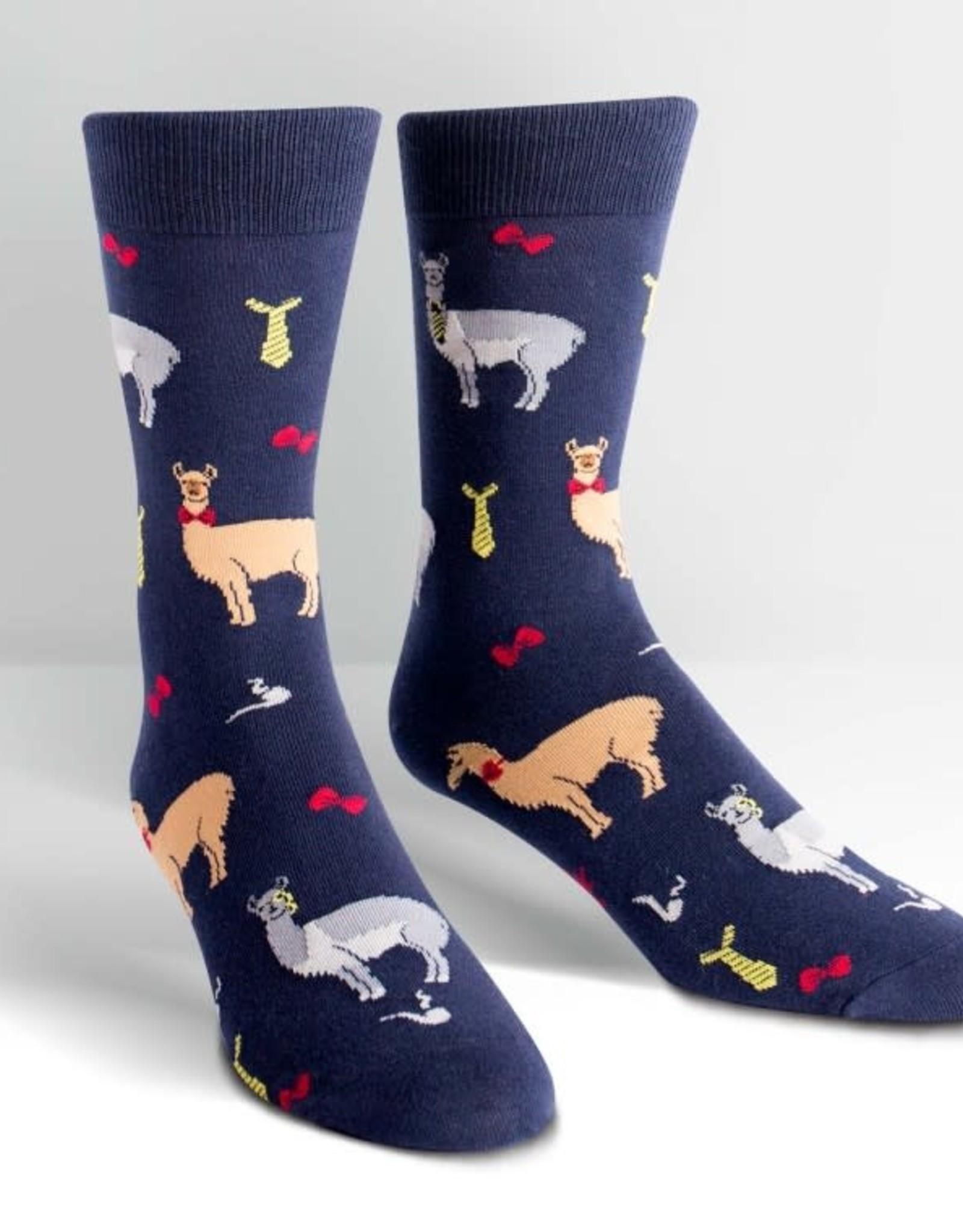 Sock It To Me MEN'S CREW: LLAMA DRAMA