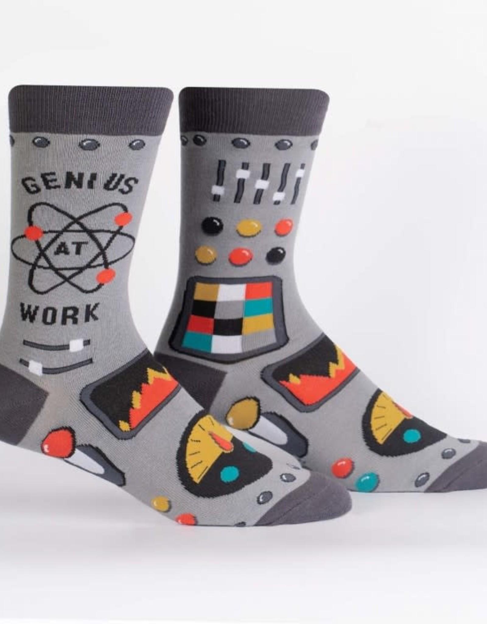 Sock It To Me MEN'S CREW: GENIUS AT WORK