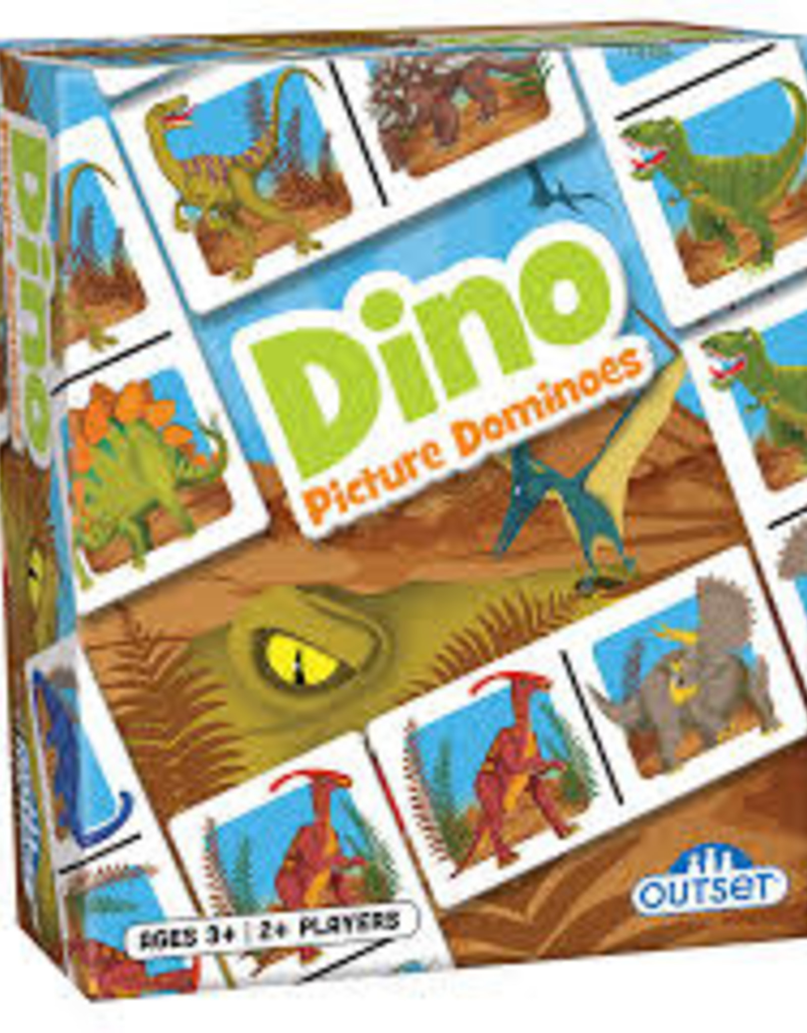 Outset Picture Dominoes: Dino