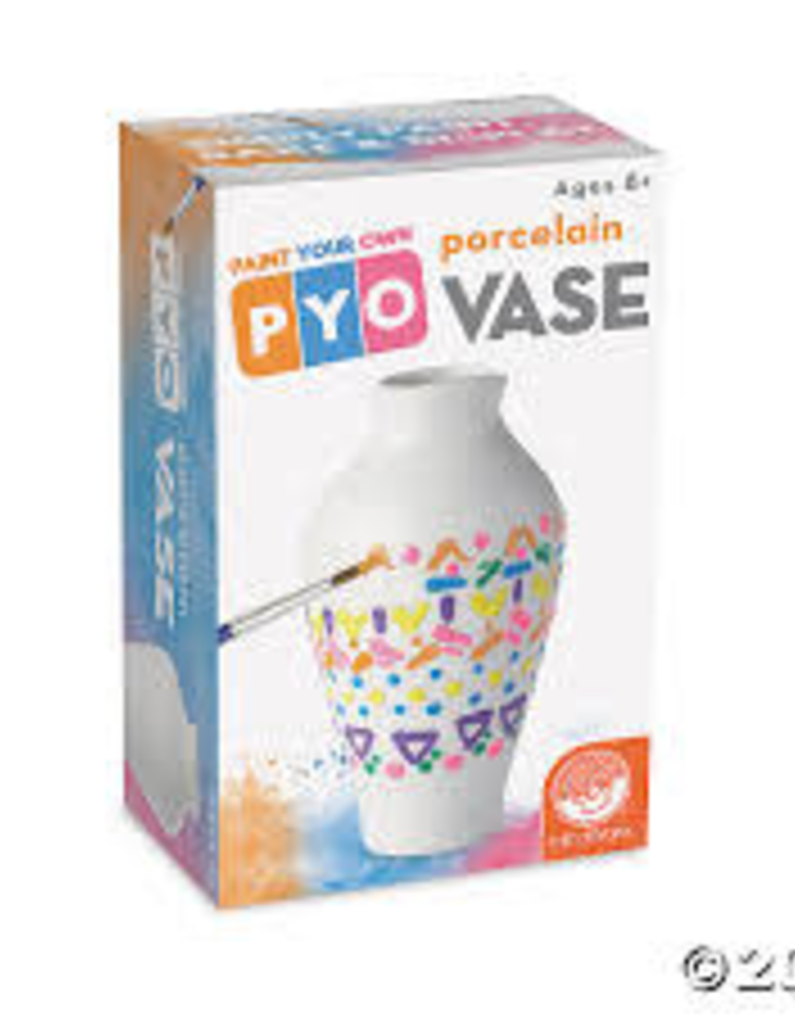 MindWare Paint-Your-Own Porcelain Vase