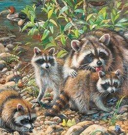 Cobble Hill Raccoon Family (Family) 350pc