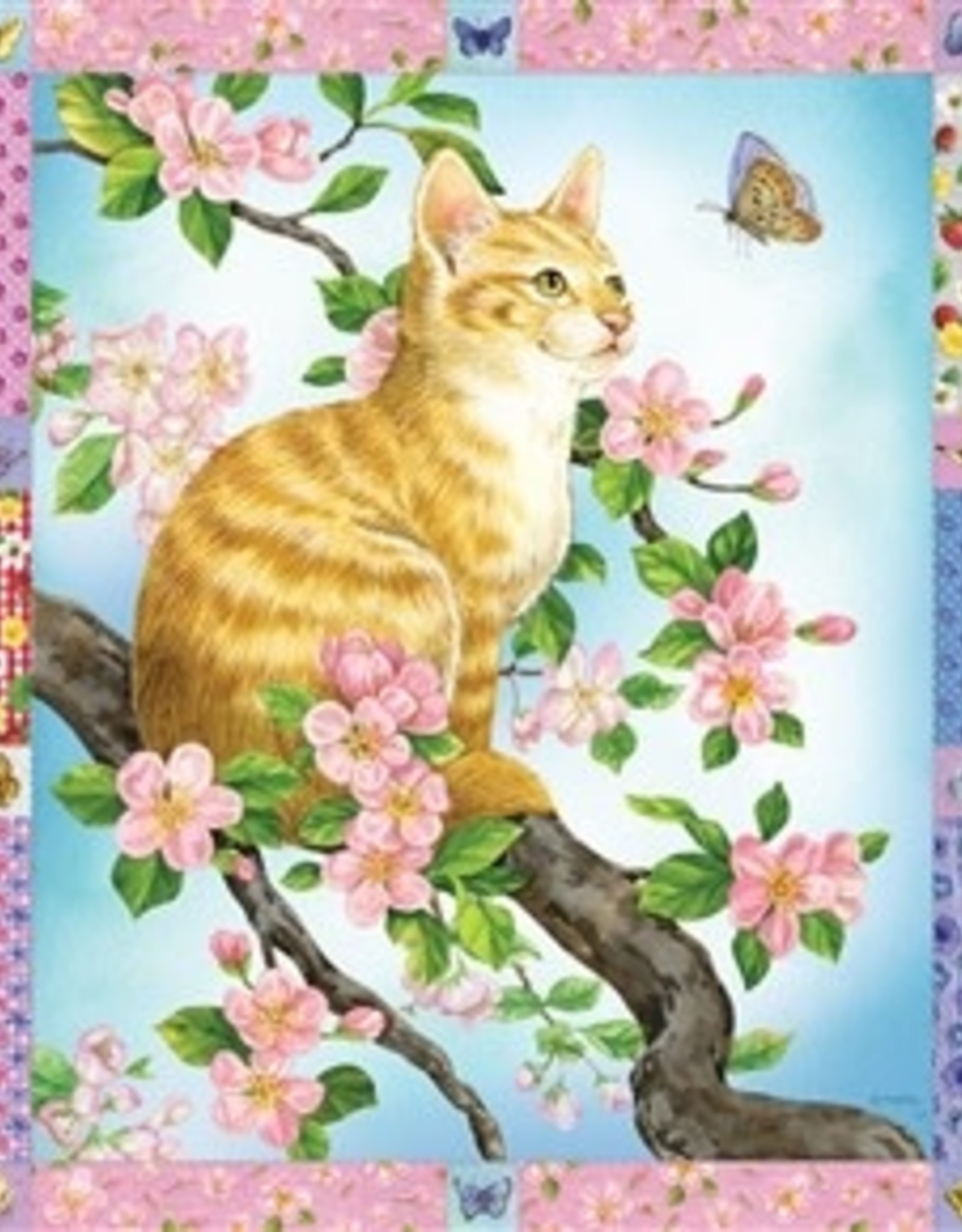 Cobble Hill Blossoms and Kittens Quilt 1000pc