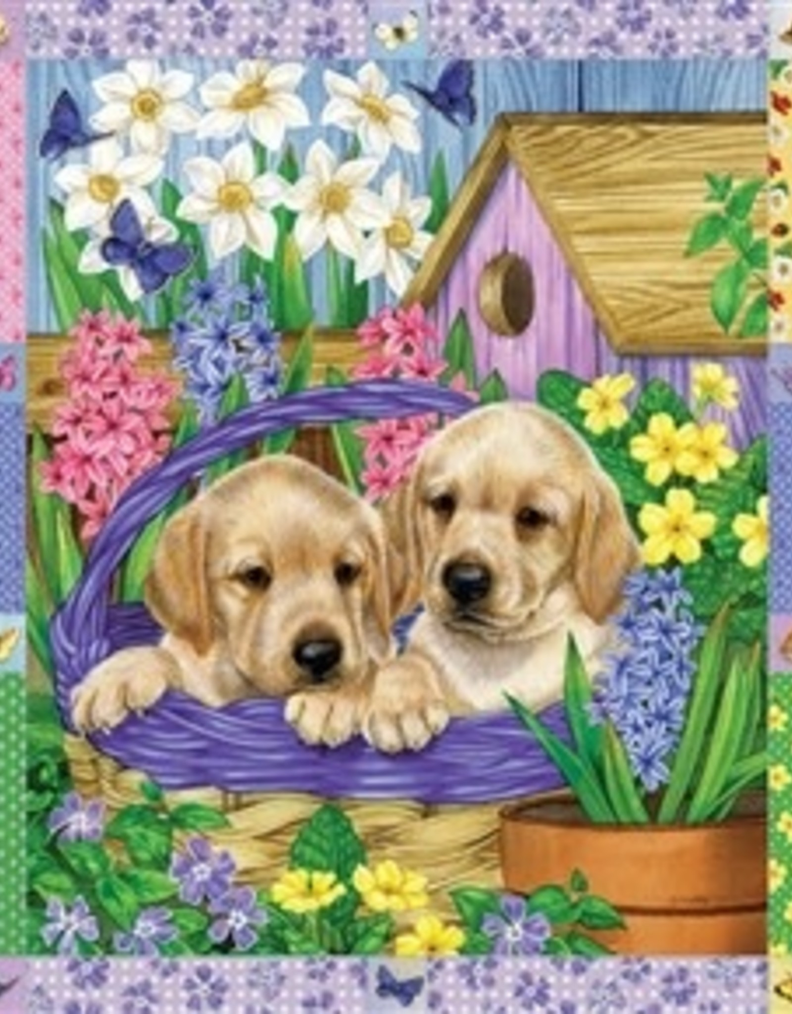 Cobble Hill Puppies and Posies Quilt 1000pc