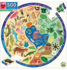 Eeboo BIODIVERSITY 500PC ROUND PUZZLE