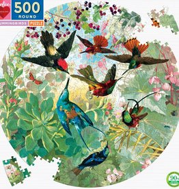 Eeboo HUMMINGBIRDS 500PC ROUND PUZZLE