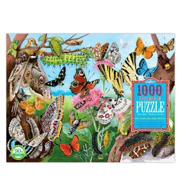 eeBoo BUTTERFLIES AND MOTHS 1000PC PUZZLE