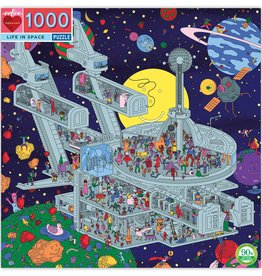 eeBoo LIFE IN SPACE 1000PC PUZZLE