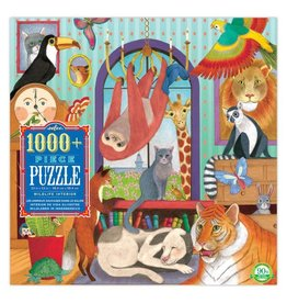 eeBoo WILDLIFE INTERIOR 1008 PC PUZZLE