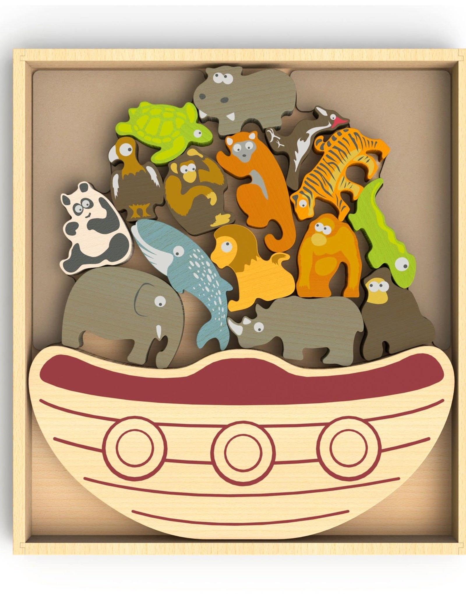 BeginAgain Balance Boat - Endangered Animals